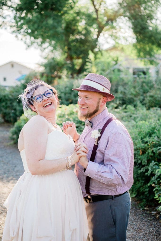 bride & groom portraits during golden hour at a wedding in western Colorado | Malachi Lewis- Colorado wedding and elopement photographer