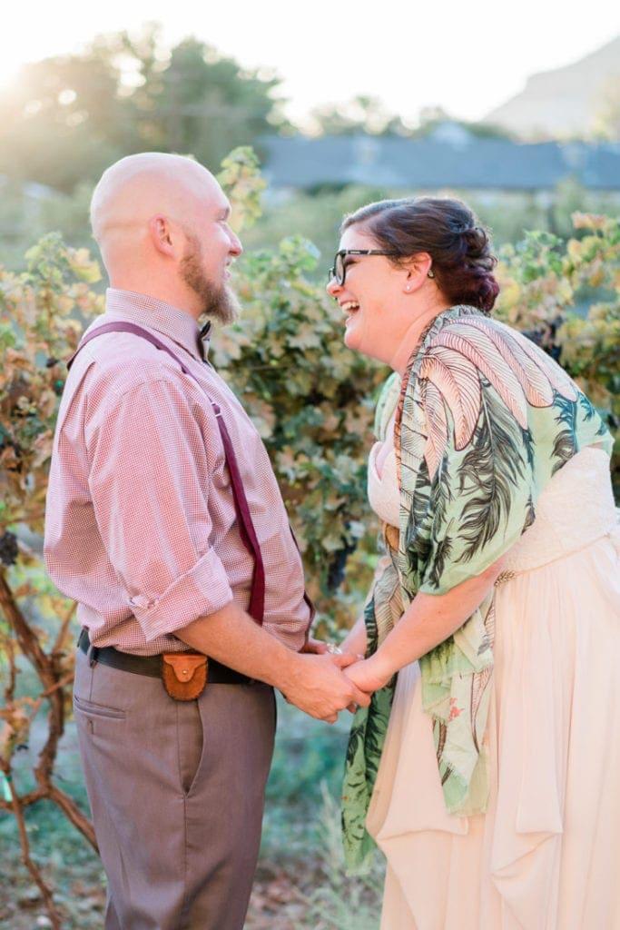 sunset photos of a couple at a wedding in Colorado