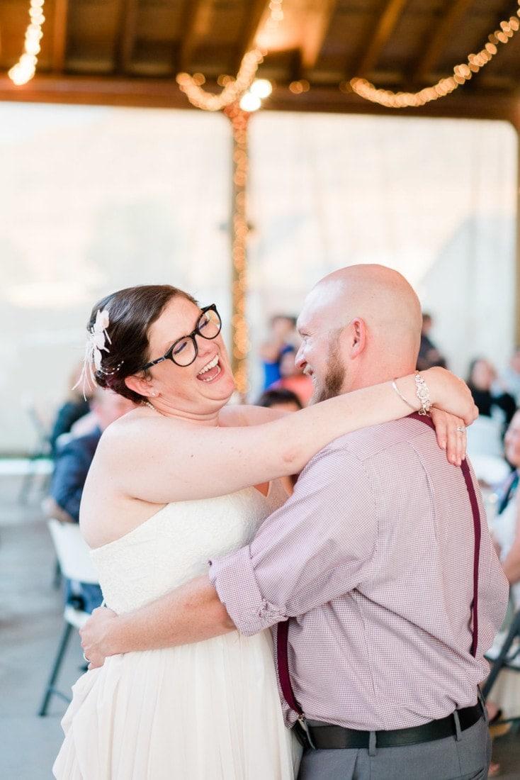 fun dancing couple at a wedding | Colorado wedding photographer in Montrose, CO