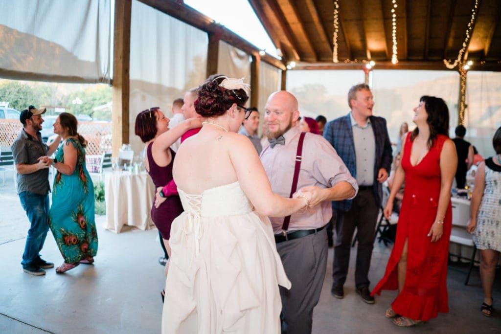 wedding reception in western Colorado