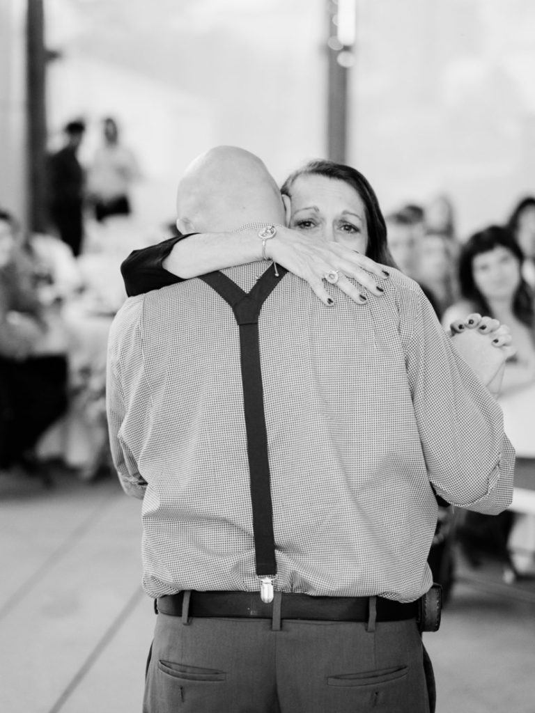 emotional mother son dance at a wedding in Colorado