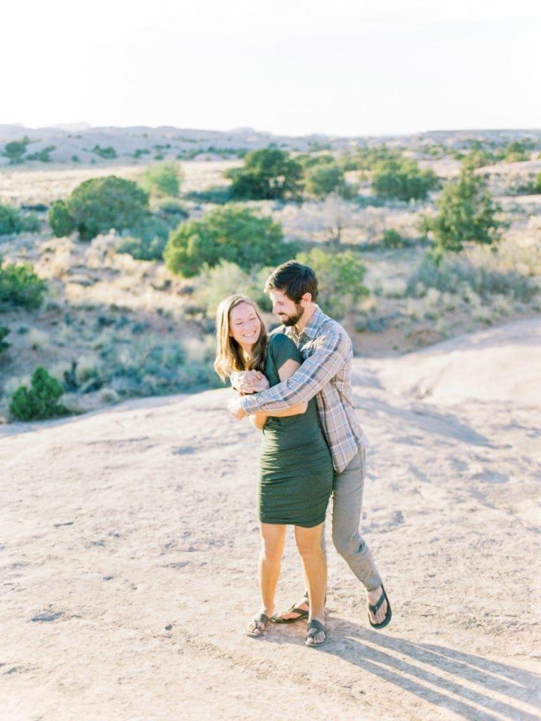 Matt & Suzy | adventure session near Moab, UT in Canyonlands & Arches