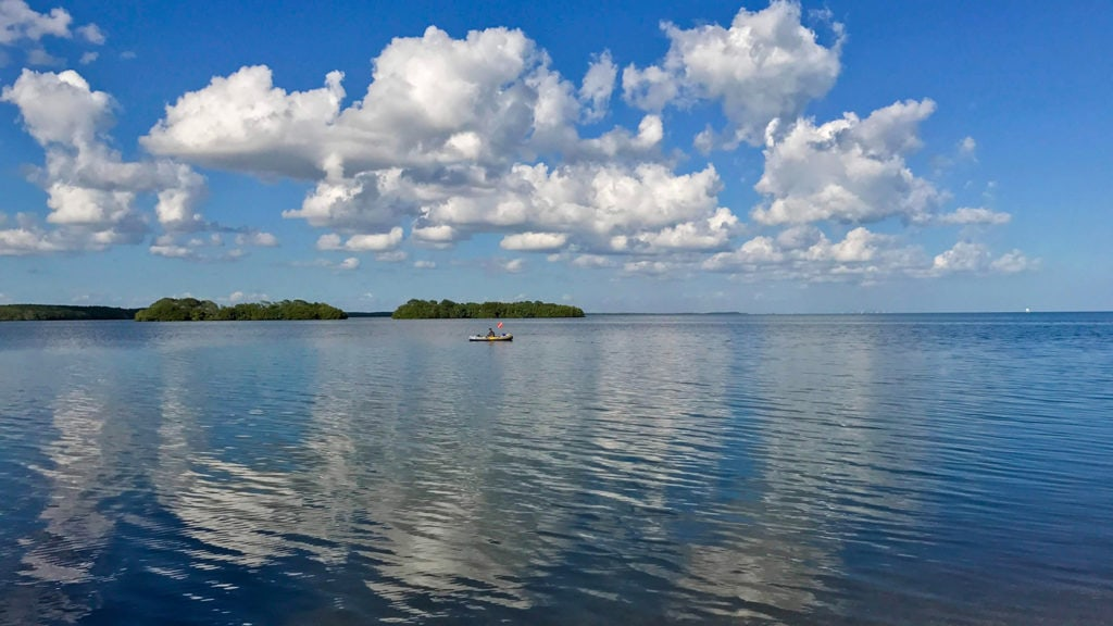 blue waters in Biscayne National Park in Florida