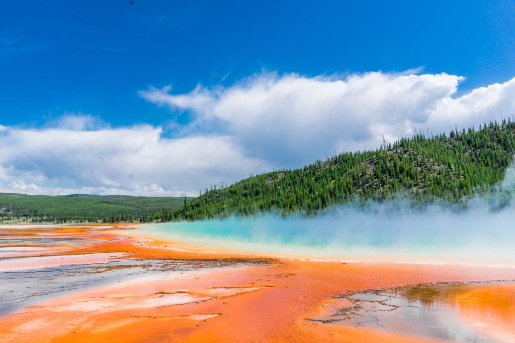 colorful hot springs in Yellowstone National Park