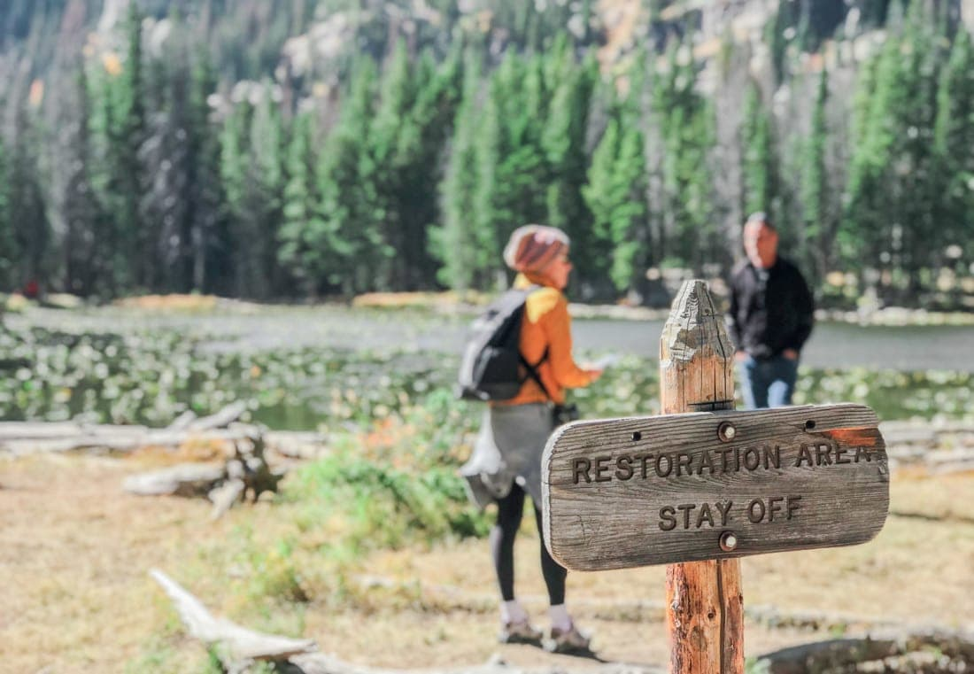 Leave No Trace! Be sure to stay on the trails in national parks to preserve sensitive areas.