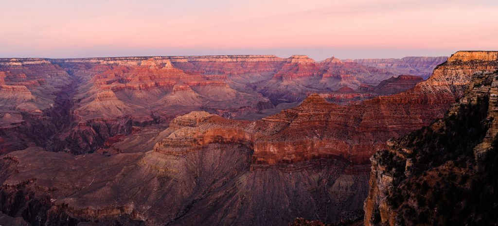Grand Canyon National Park at sunset during an elopement