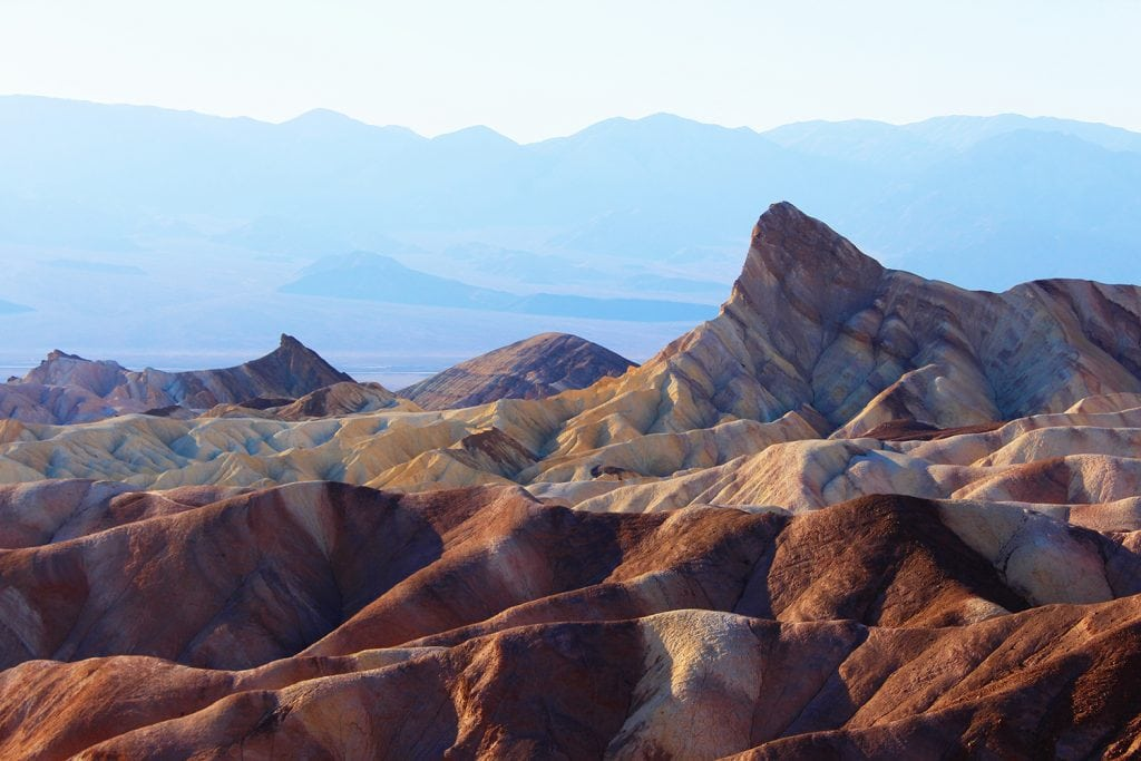 mountains and rocky formations in Death Valley National Park