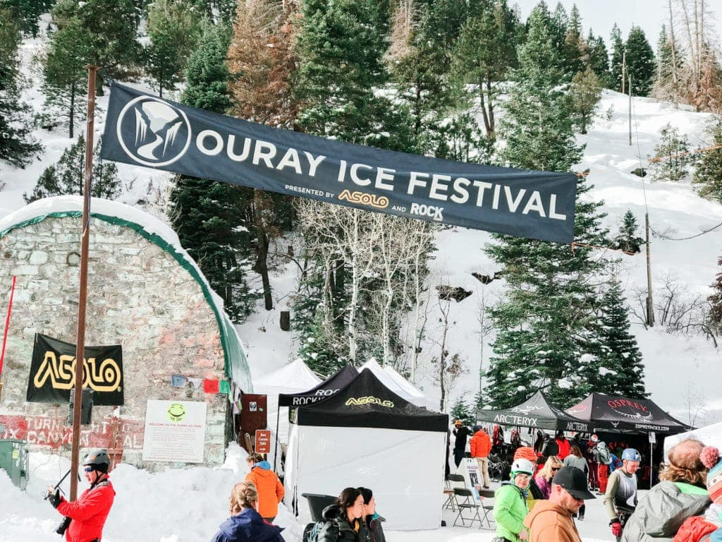 Ouray Ice Festival entrance