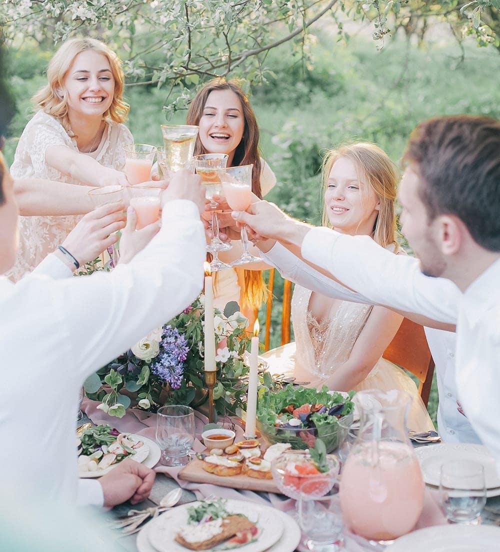 backyard wedding reception in Colorado after an elopement