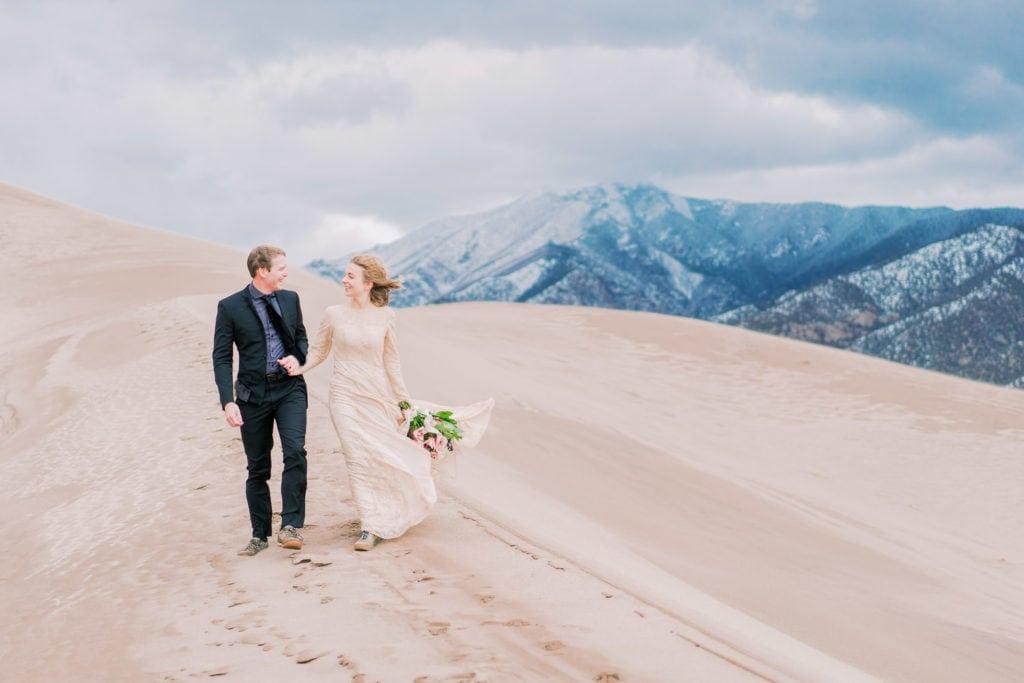Great Sand Dunes National Park elopement in Colorado