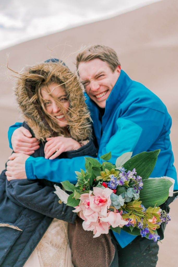 windy adventure elopement in Colorado