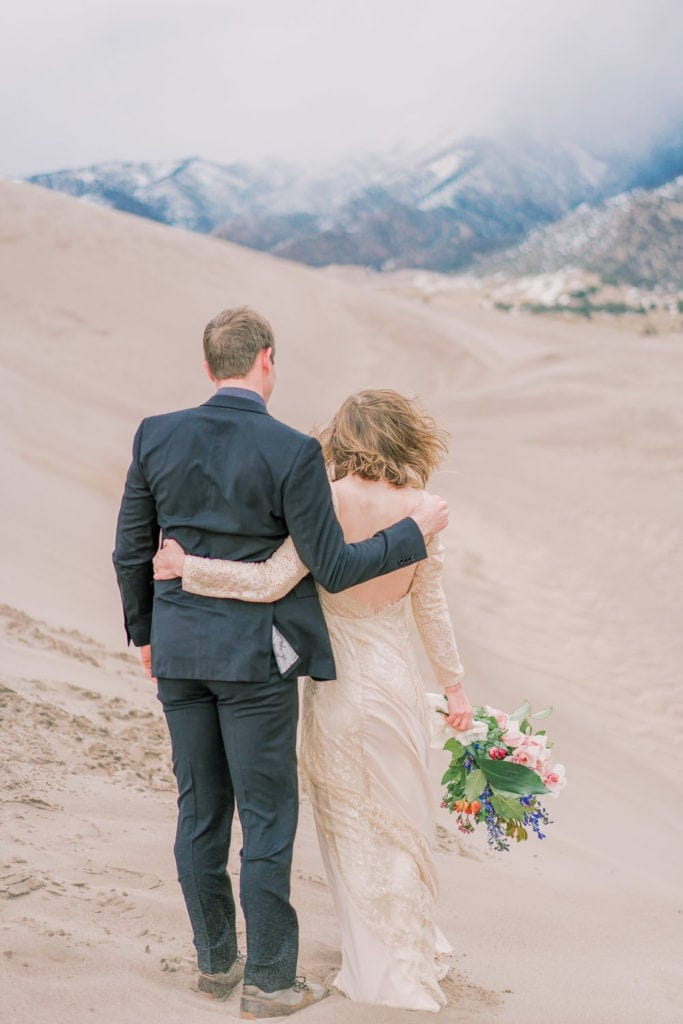 elopement in Colorado with a couple in the Great Sand Dunes near Colorado Springs