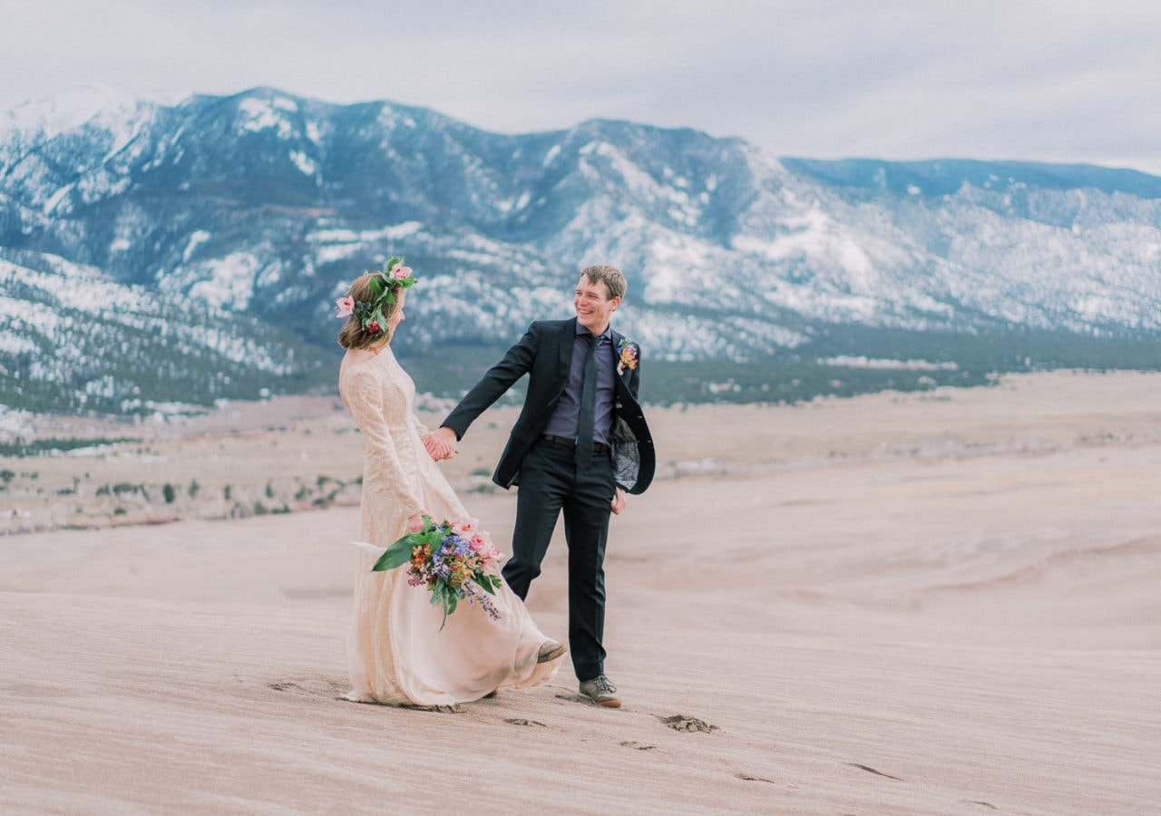 hiking elopement photographer and videographer in Colorado