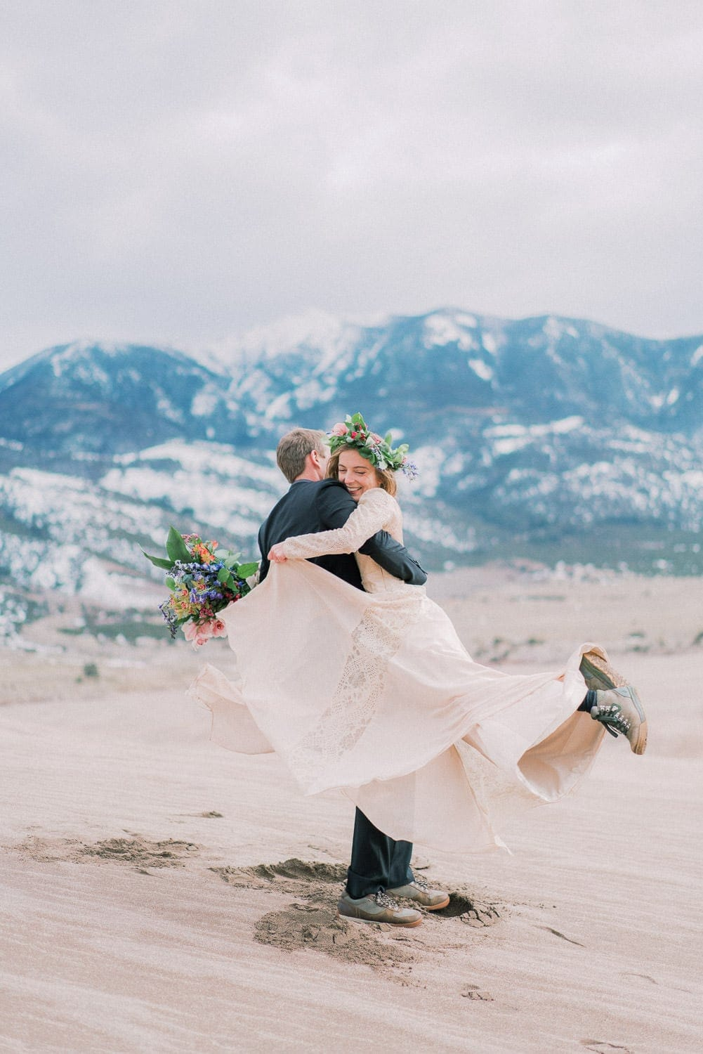 fun elopement in the Great Sand Dunes