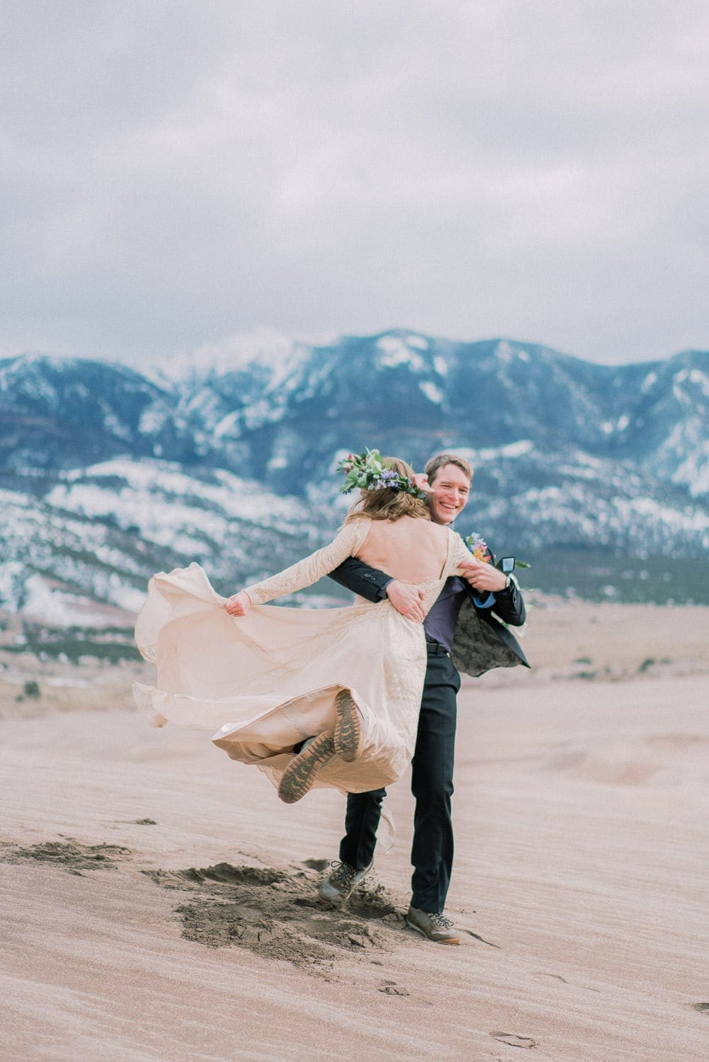 fun elopement photography in Colorado