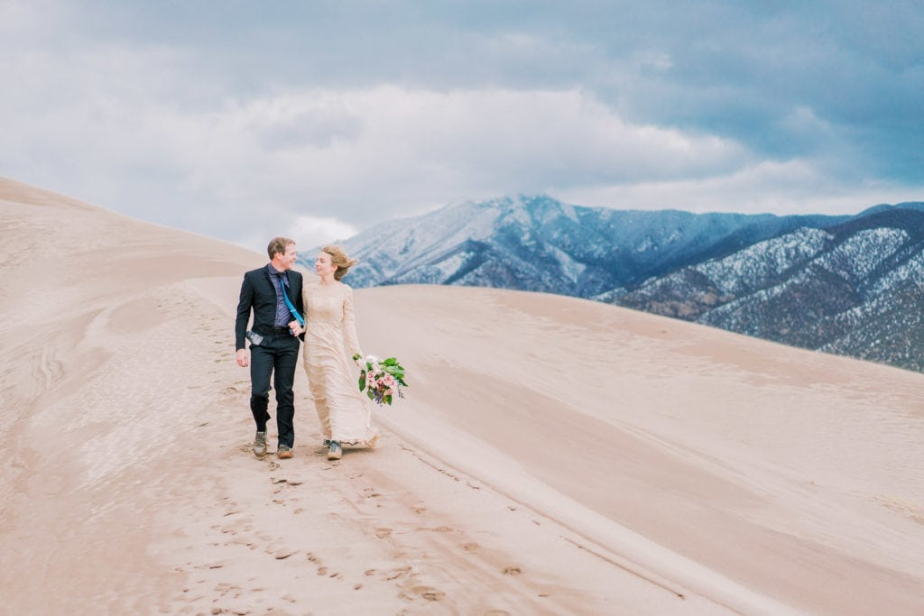 Colorado elopement photographer in the Great Sand Dunes