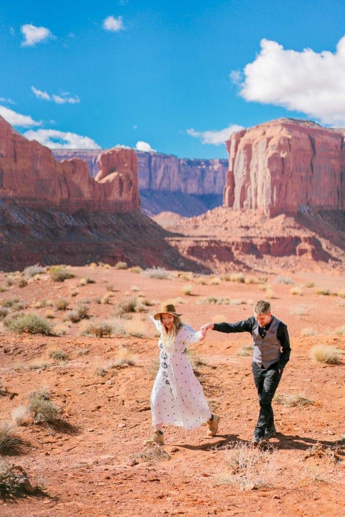 adventuring around Monument Valley