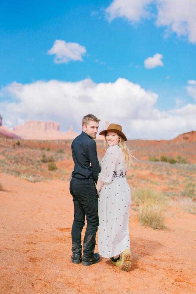 adventure elopement in Monument Valley Utah