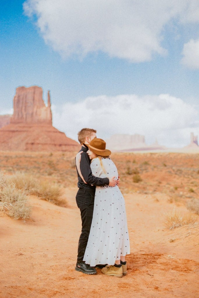 Monument Valley elopement with Christina & Jeremiah in Utah