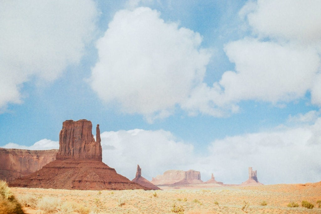 Monument Valley in Arizona on Kodak Gold 200 film