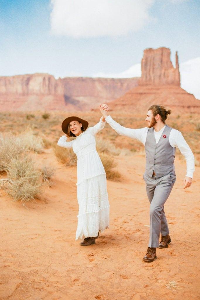 Monument Valley elopement celebration