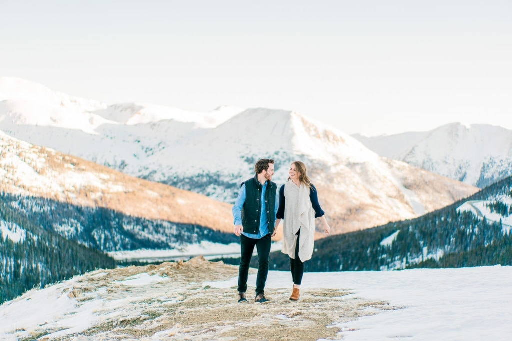 Nate & Kelsey | adventurous engagement session at Loveland Pass in Colorado