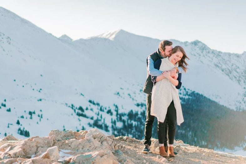 Nate & Kelsey | Loveland Pass Colorado engagement session