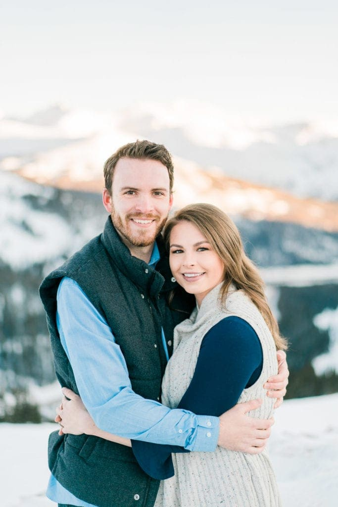 Nate & Kelsey | adventurous & romantic engagement session in Colorado at Loveland Pass
