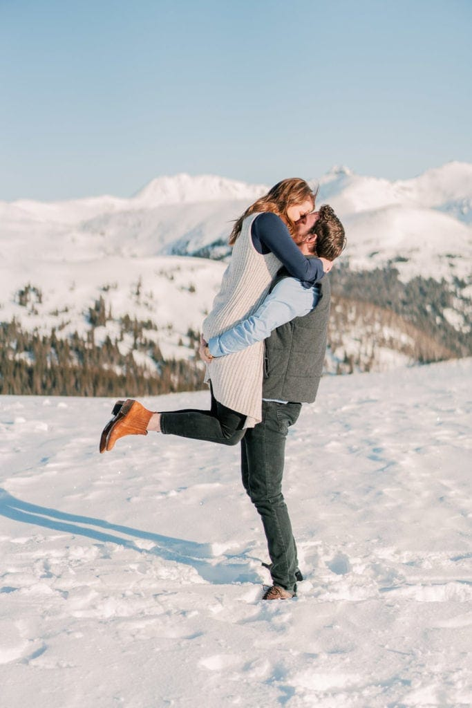 Nate & Kelsey | Telluride, CO engagement session in the mountains