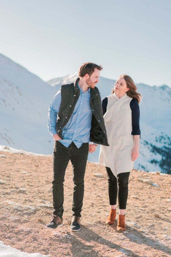 Nate & Kelsey | Breckenridge engagement session in Colorado