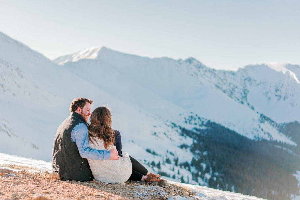 engagement session at Loveland Pass in Colorado