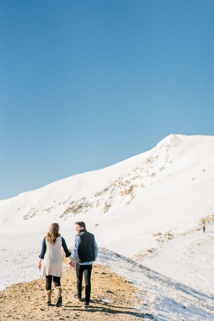 engagement session at Loveland Pass