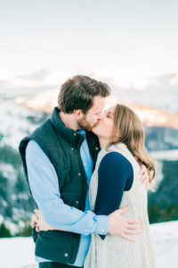 Nate & Kelsey | romantic snowy engagement session in Colorado