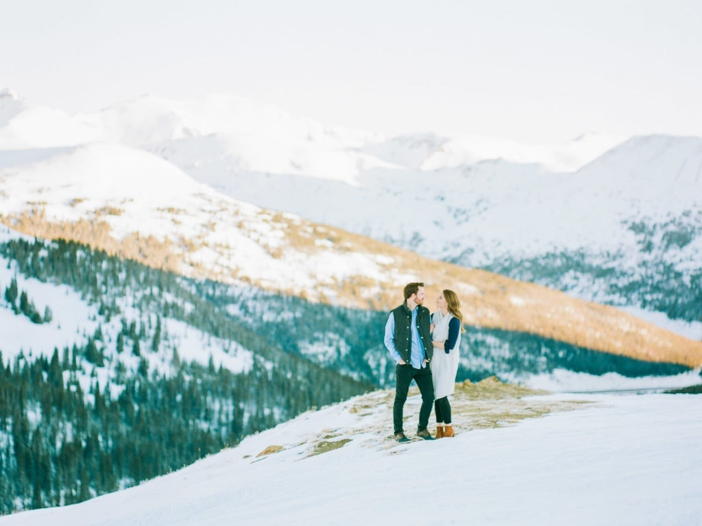 Nate & Kelsey | fine art film photography of an engagement session at Loveland Pass on Portra 800 film
