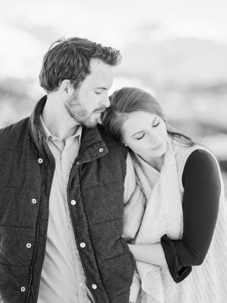 Nate & Kelsey | black & white film photography in Colorado
