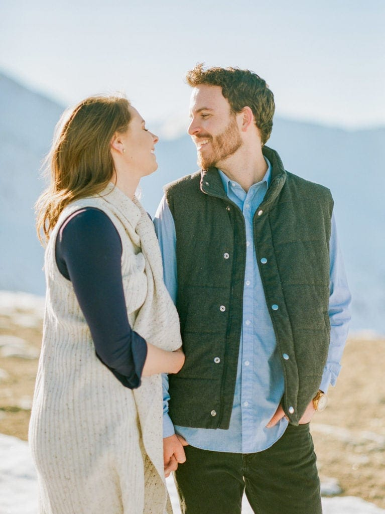 Nate & Kelsey | Loveland Pass engagement session in Colorado
