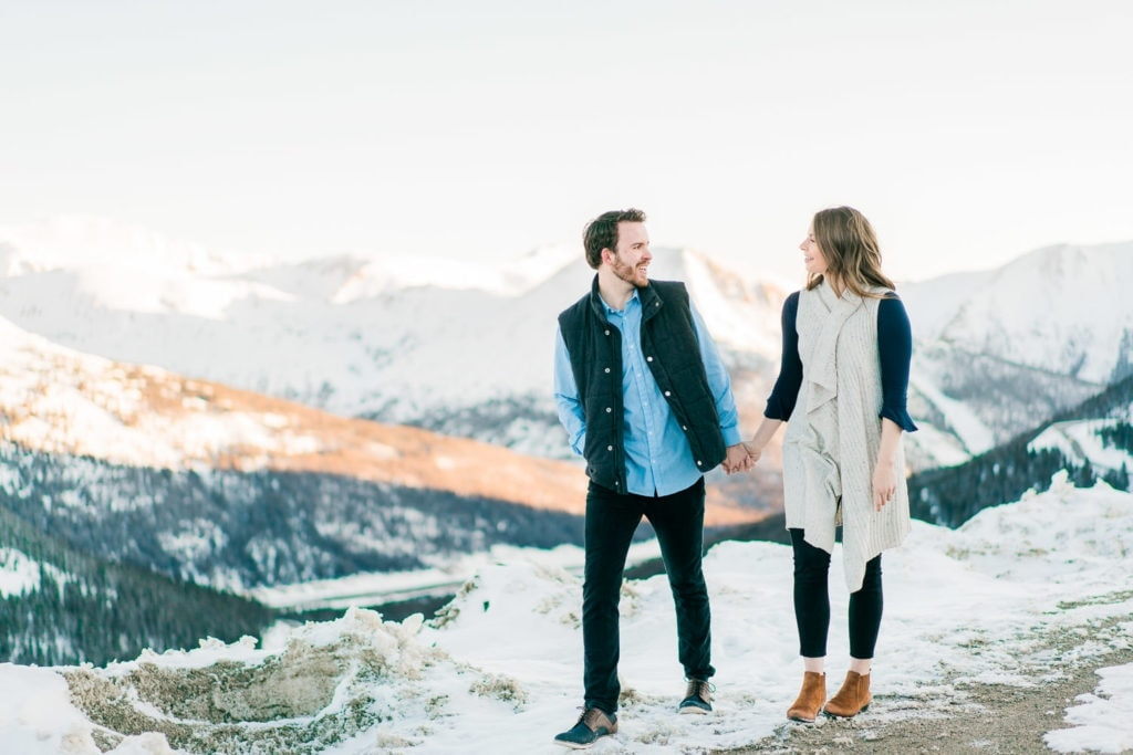 Nate & Kelsey | engagements in the mountains of Colorado in winter