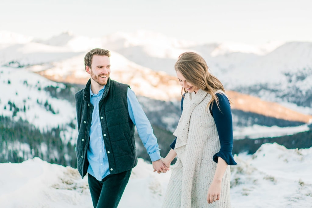 Nate & Kelsey | Breckenridge, Colorado engagement photography at Loveland Pass