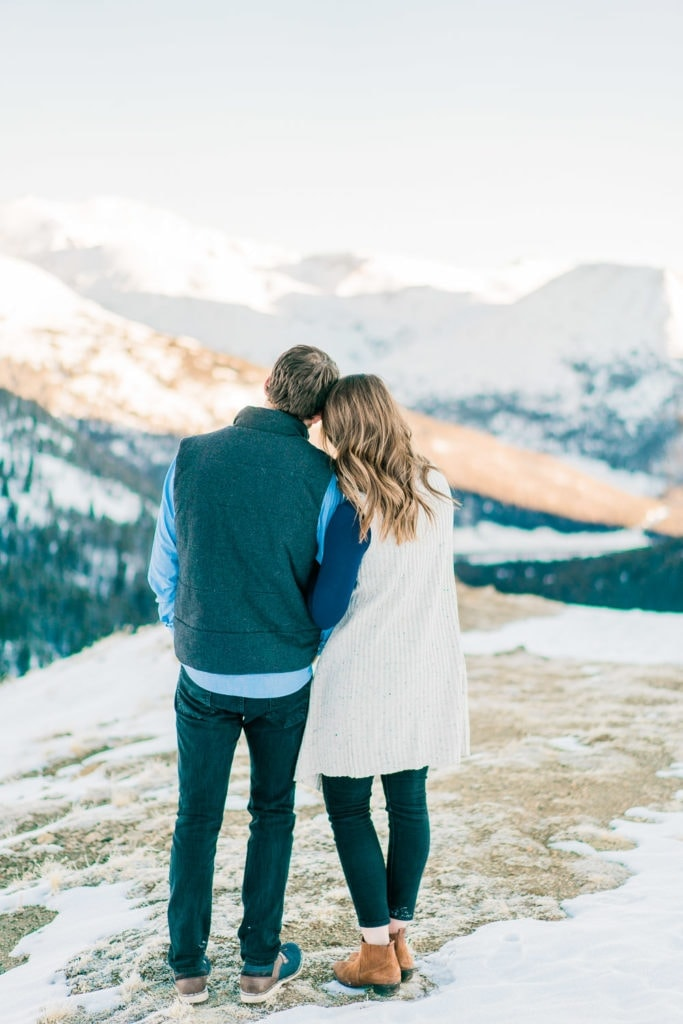 Nate & Kelsey | romantic engagement session in the mountains of Colorado