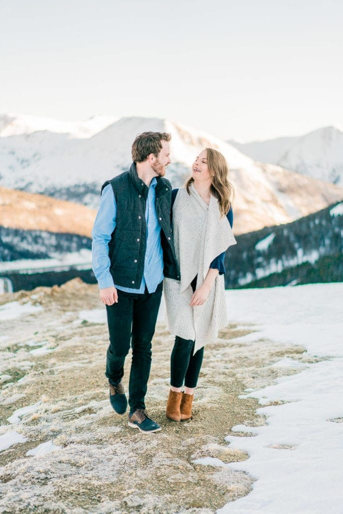 Nate & Kelsey | engagement & wedding photographer in Colorado at Loveland Pass