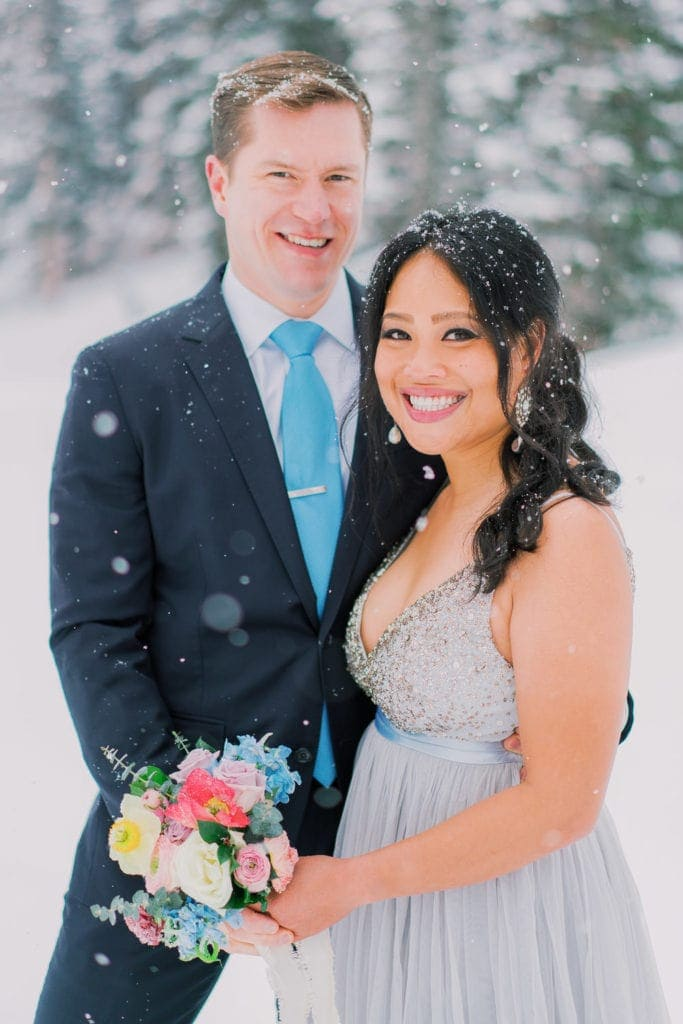 snowy elopement in Rocky Mountain National Park