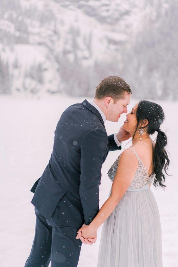 romantic photography in Estes Park for an elopement
