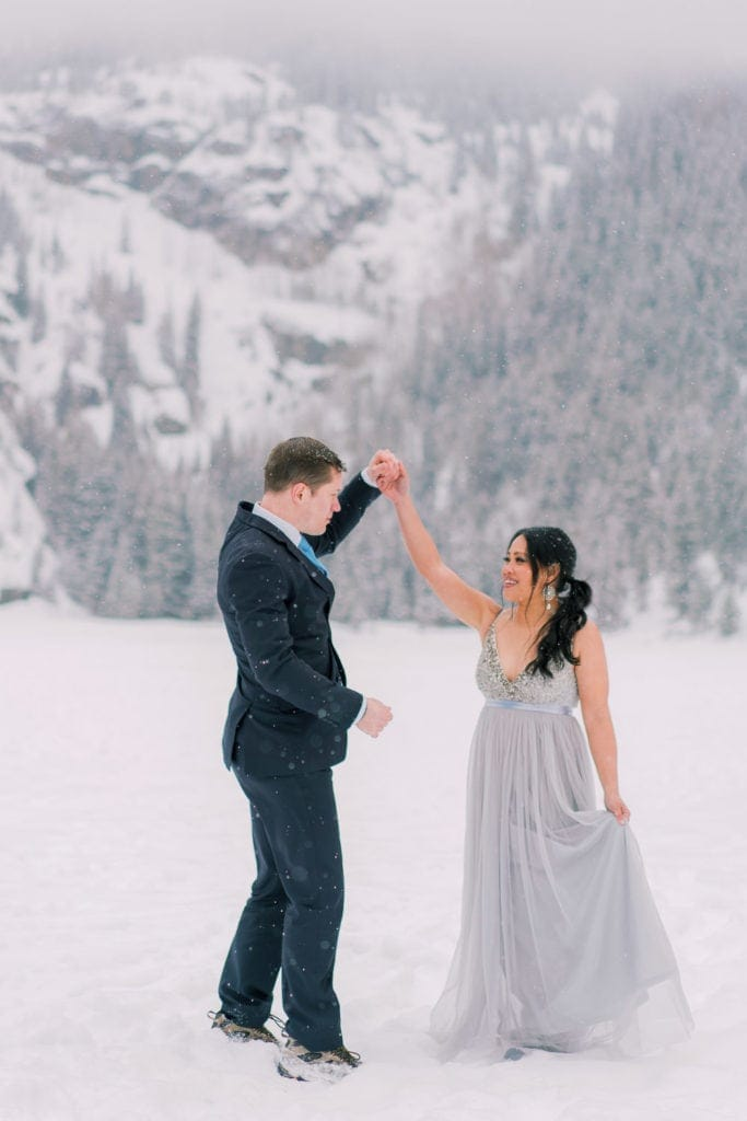 first dance at an elopement in Colorado