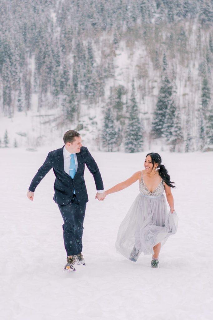 fun elopement in Estes Park, Colorado