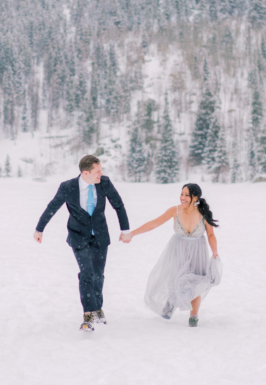 fun elopement in Estes Park, Colorado