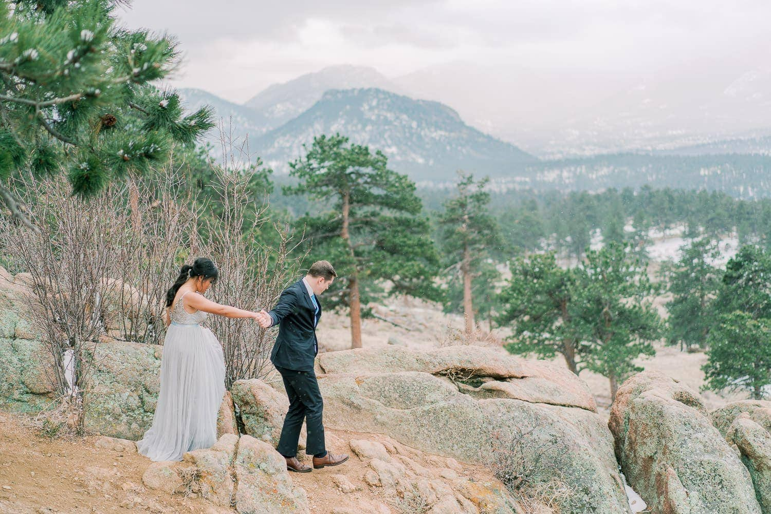vow renewal at 3M Curve in Rocky Mountain National Park