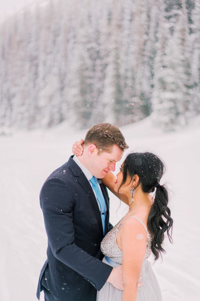 hiking vow renewal in Rocky Mountain National park