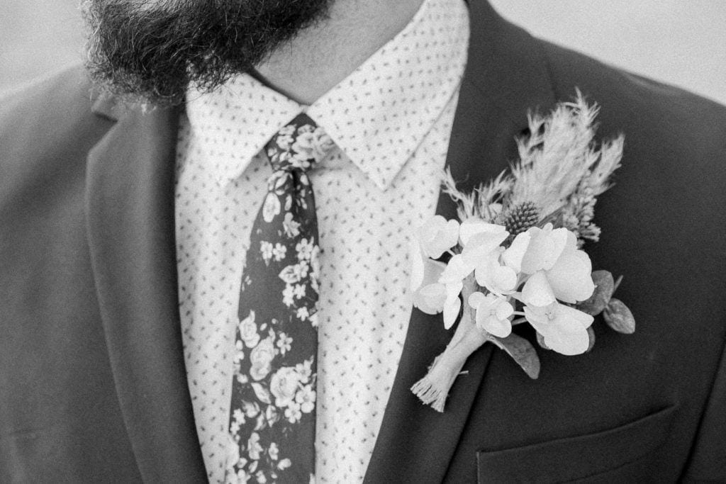 boutonniere at an elopement in Moab, UT