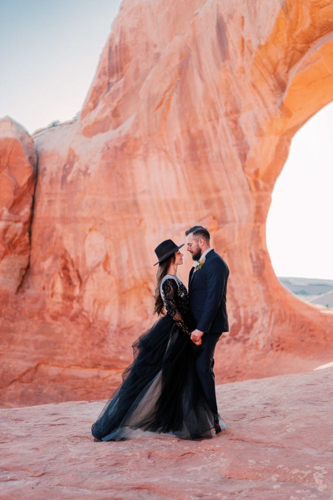 Wilson Arch elopement in Moab, Utah