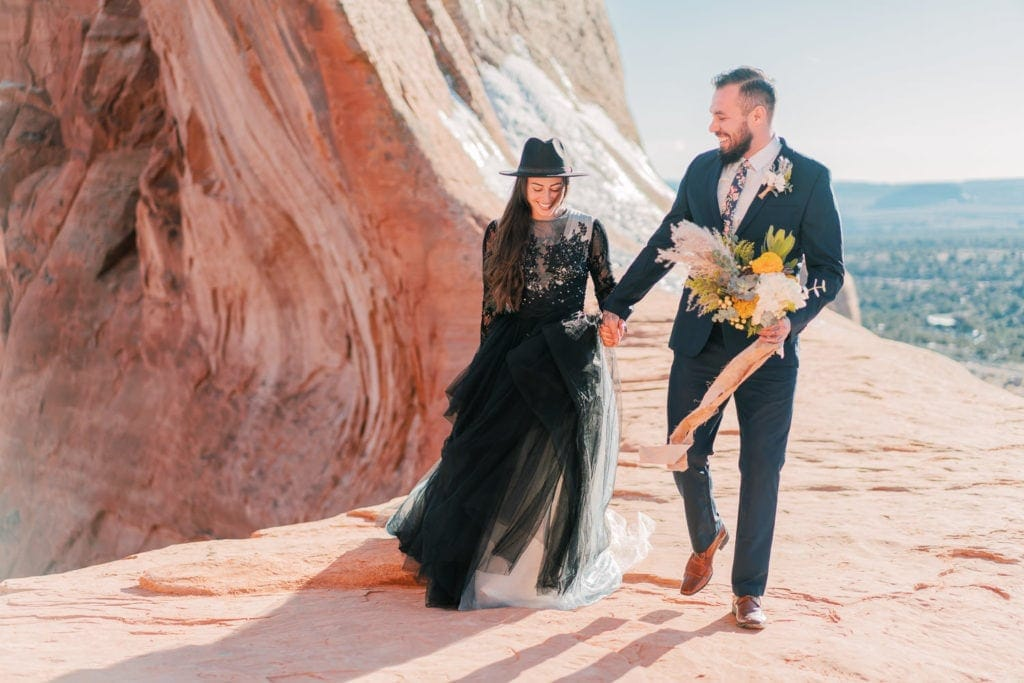 elopement in Moab, Utah near Arches National Park